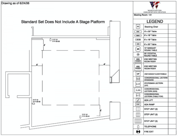 Room 141 Floor Plan
