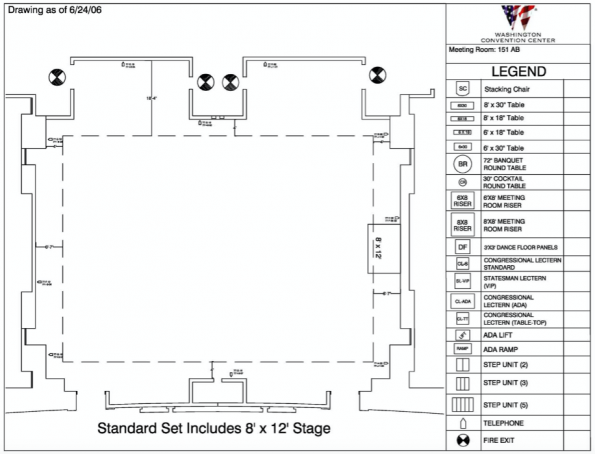 Floor plan for room 151