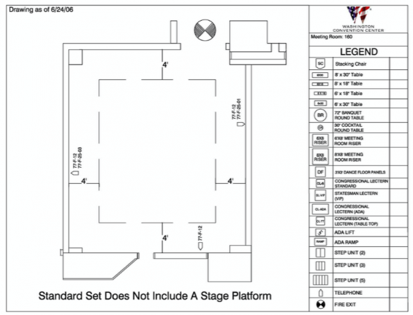 Floor Plan for room 160