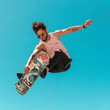 A skater in the air